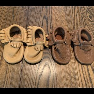 Bundle of leather Moccasins